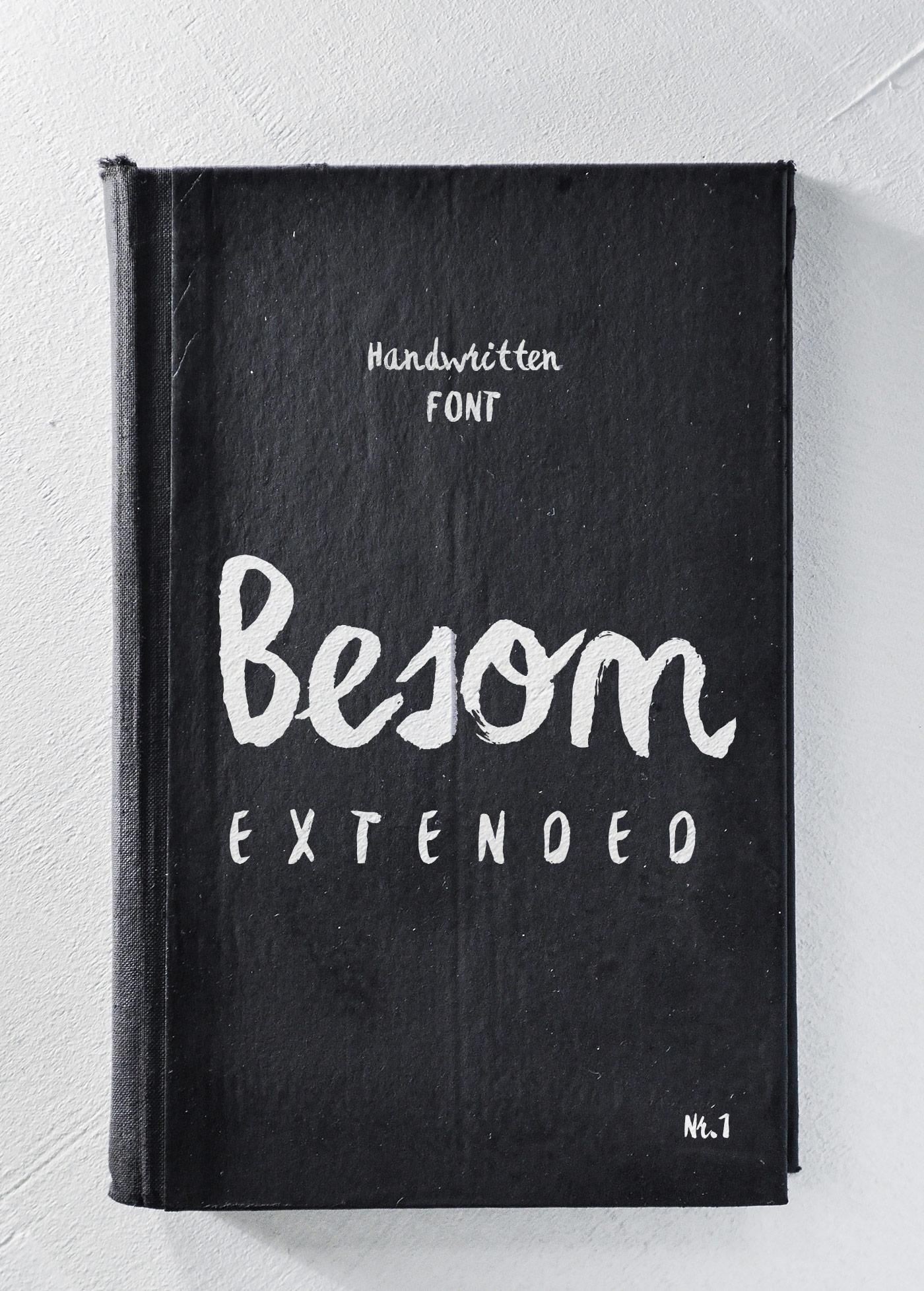 Besom Extended Brush Font