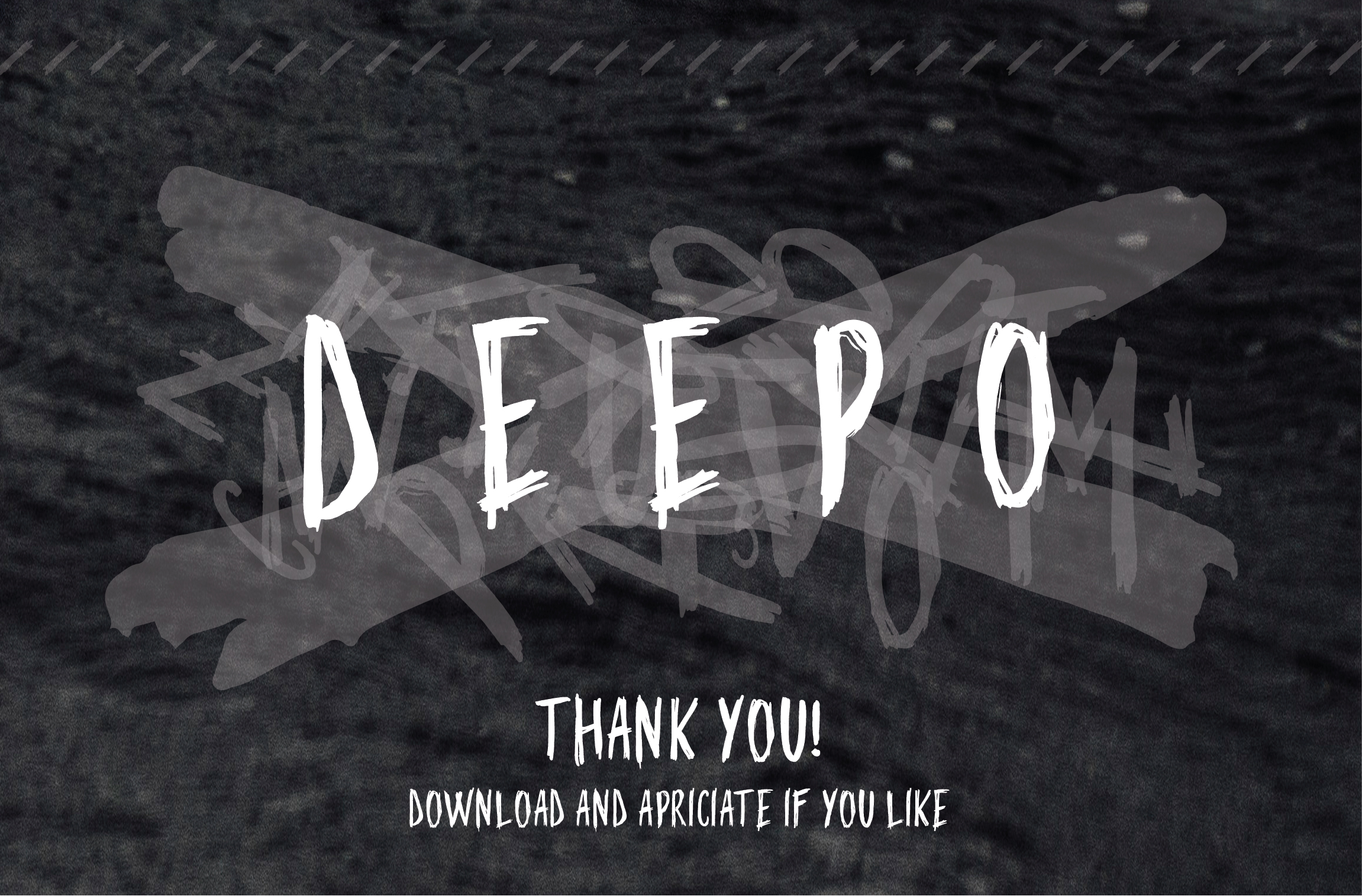 Deepo Handwriting Font