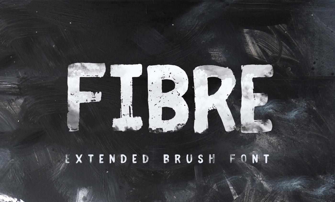 Fibre Extended Brush Font