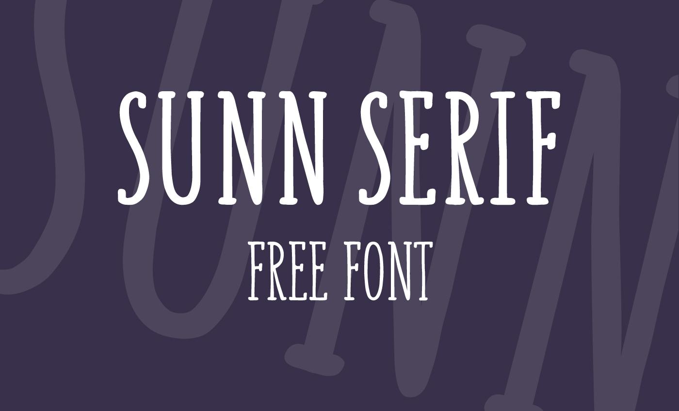 SUNN Serif Free Font