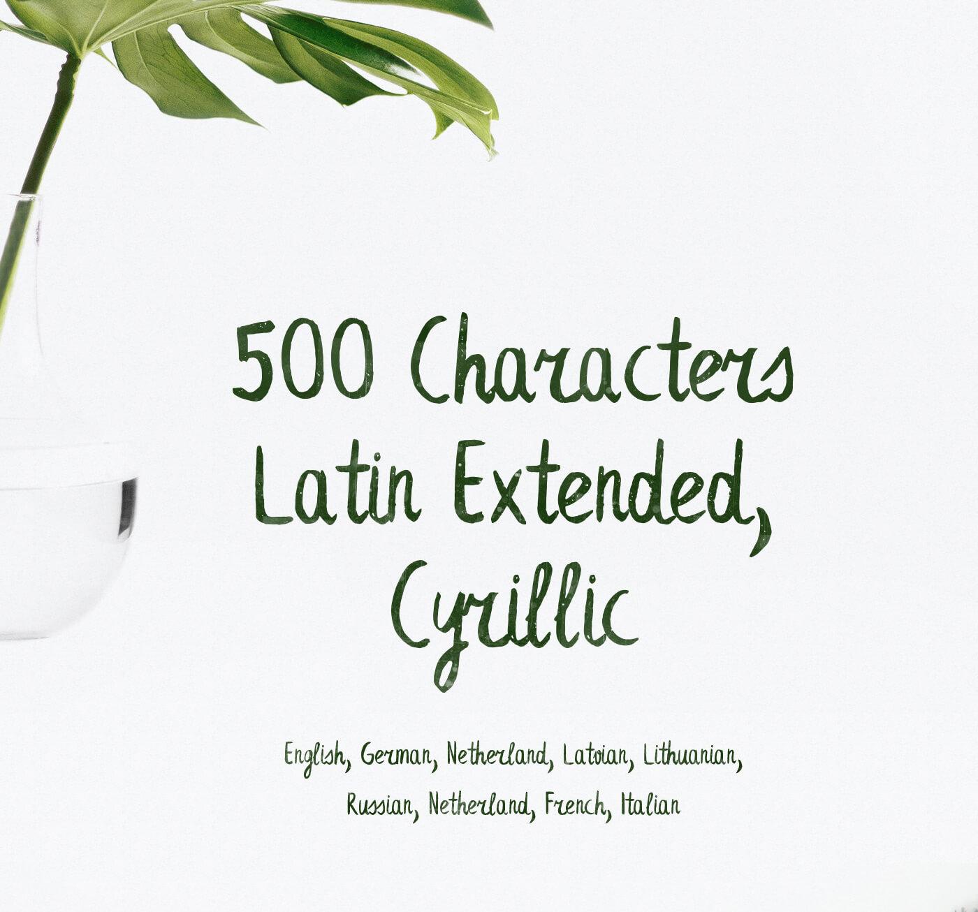 Leafy Extended Brush Font