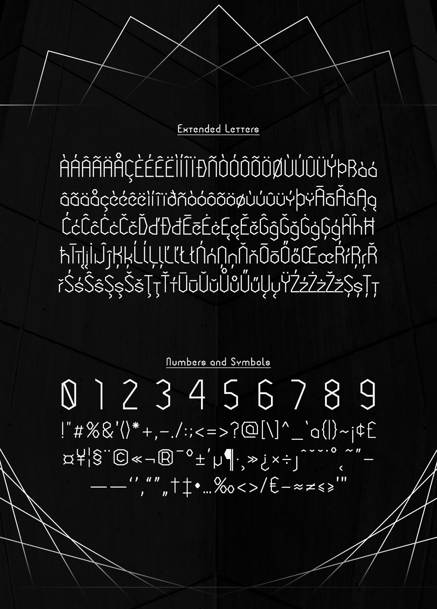 Cornera Extended Font