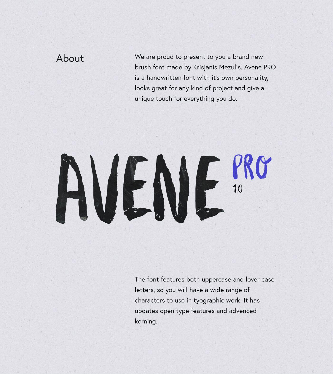 Avene PRO Font