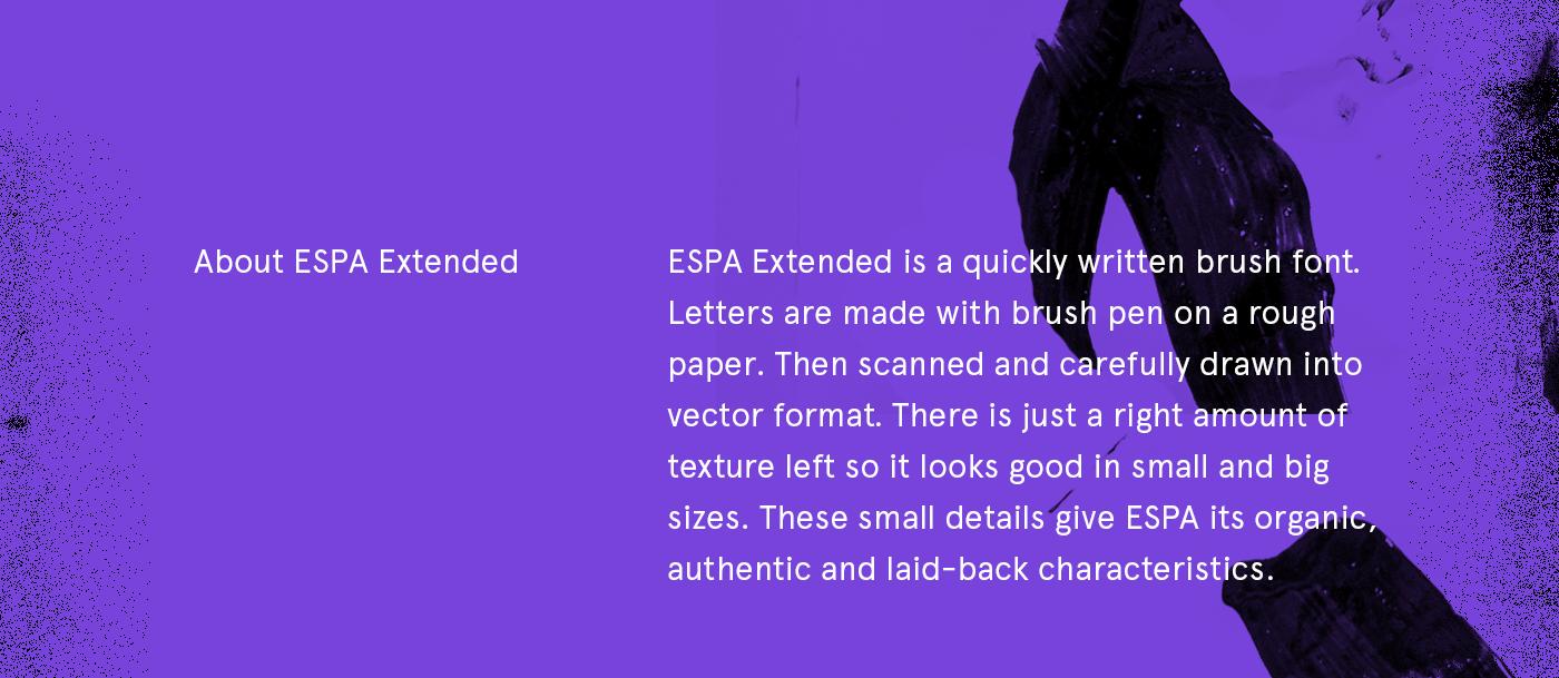 Espa Extended Brush Font