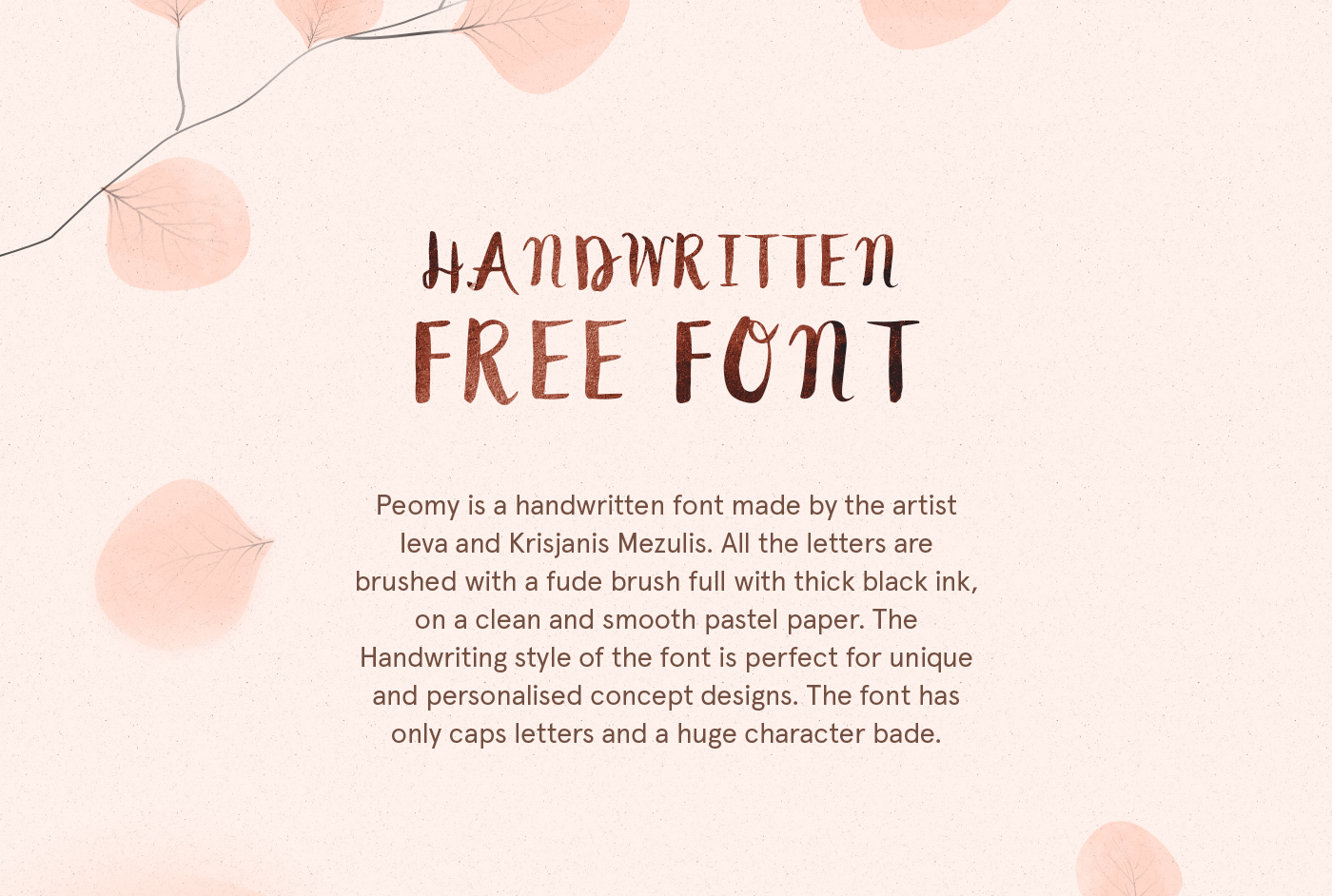 Peomy Free Script Font