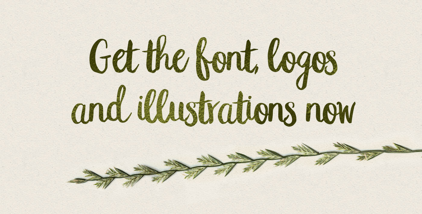 Peomy Extended Brush Font + Logos + Illustrations