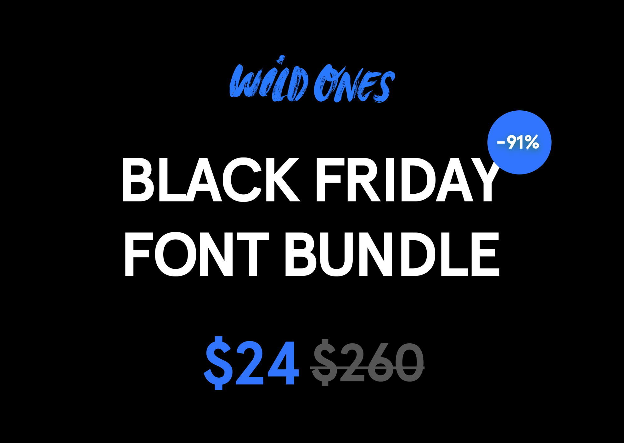 Black Friday Font Bundle