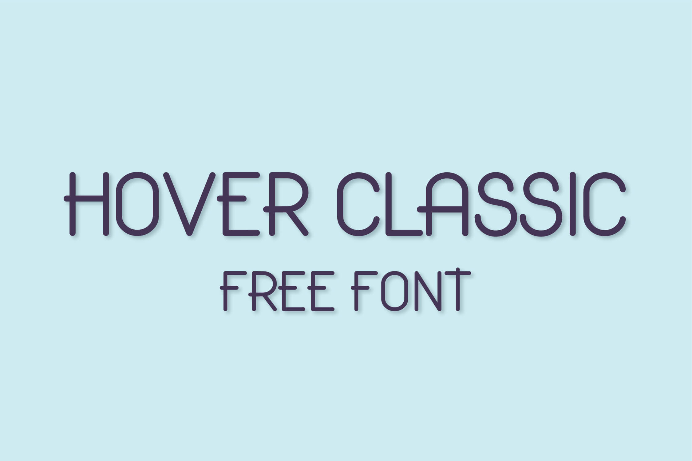 Hover Classic Free Font