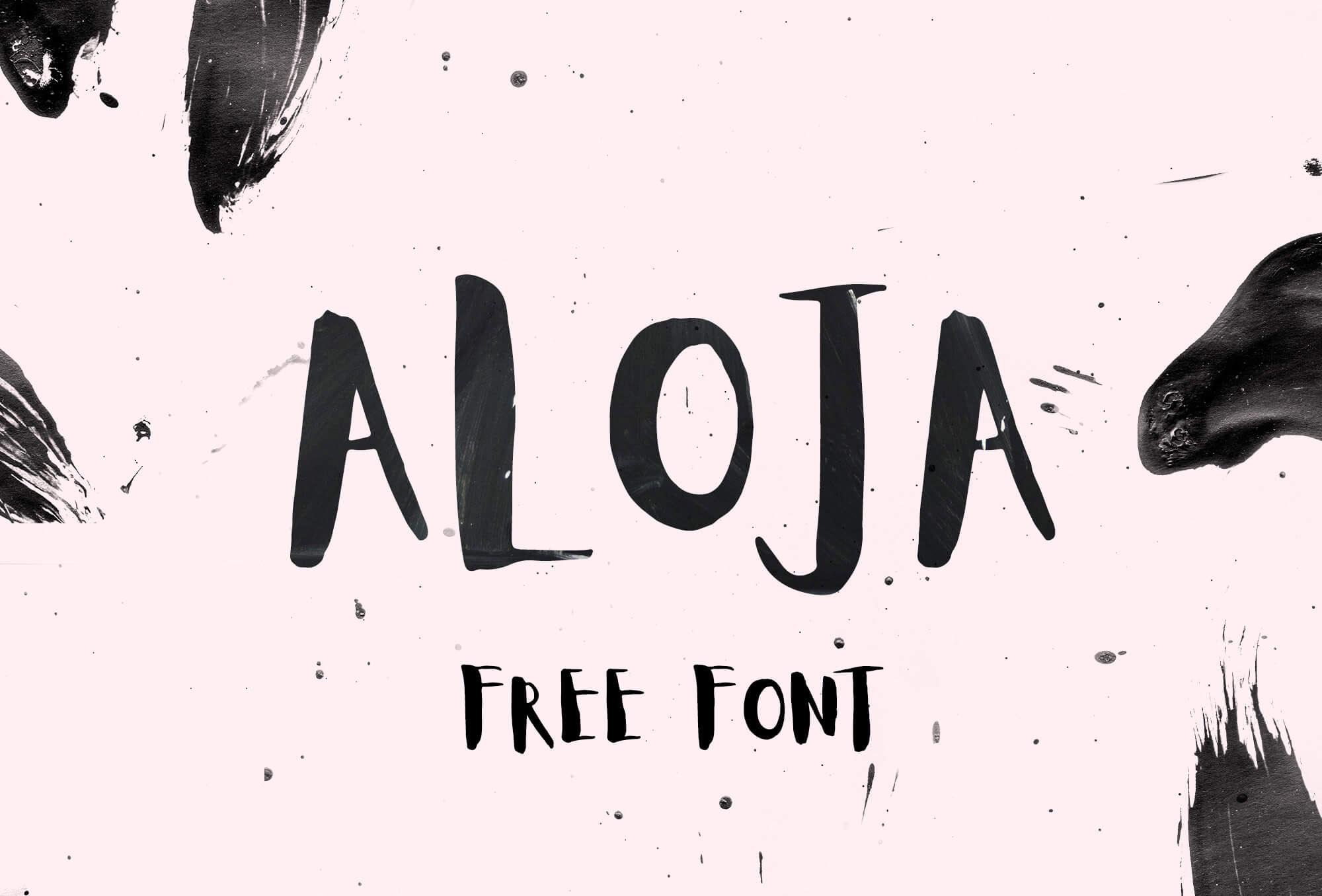 Aloja Free Handwriting Font