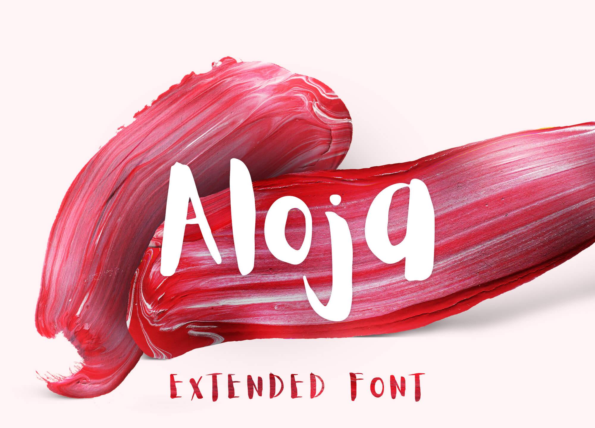 ALOJA Extended Handwriting Font