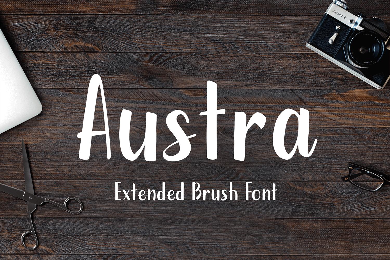 Austra – Extended Brush Font