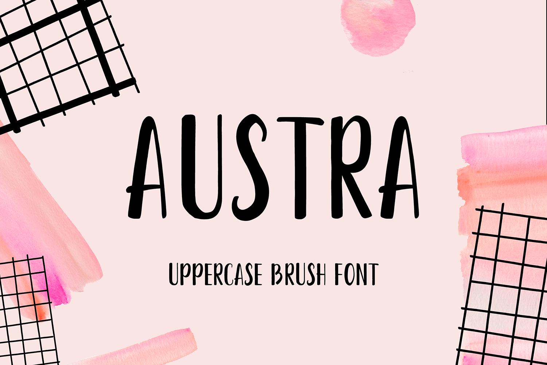 Austra – Free Brush Font